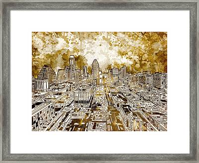 Austin Texas Abstract Panorama 6 Framed Print