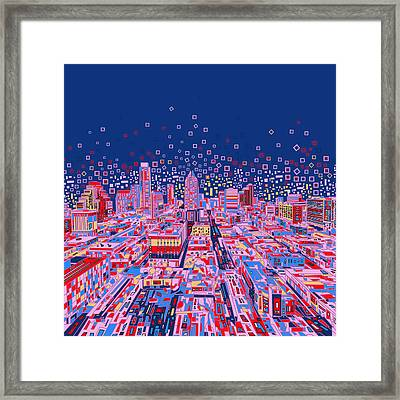 Austin Texas Abstract Panorama Framed Print