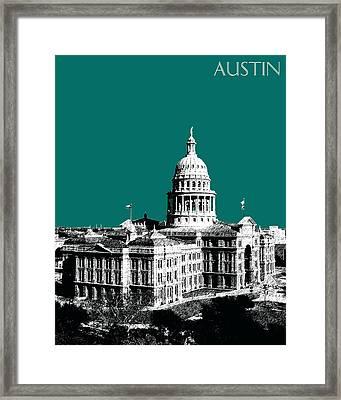 Austin Texas Capital - Sea Green Framed Print by DB Artist