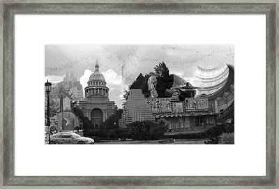 Austin Texas Composit Framed Print by Donna Bevington