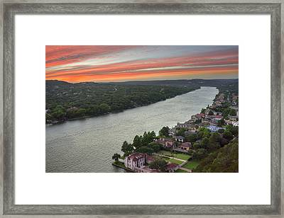 Austin Texas Images - Mount Bonnell Evening 1 Framed Print by Rob Greebon