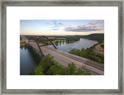 Austin Texas Images - Pennybacer Bridge And The Texas Hill Count Framed Print by Rob Greebon