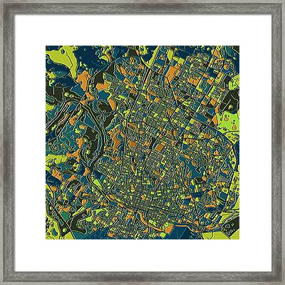 Austin Texas Map 2 Framed Print by Bekim Art