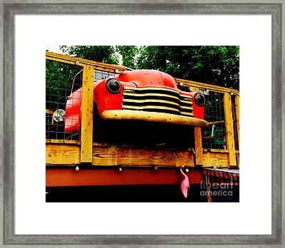 Austin Texas - Maria's Taco Express - Luther Fine Art Framed Print