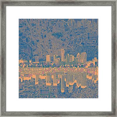 Austin Texas Skyline 2 Framed Print
