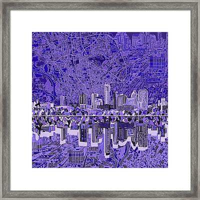 Austin Texas Skyline 4 Framed Print