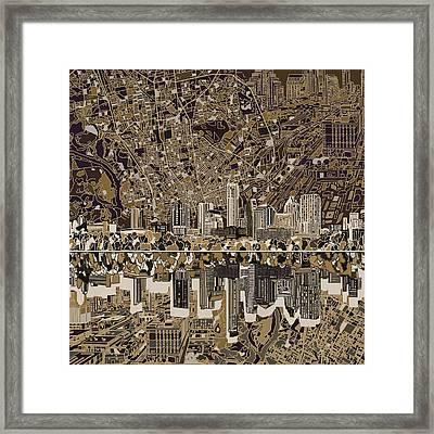 Austin Texas Skyline 5 Framed Print