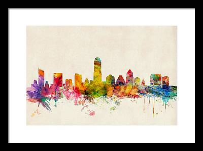 Austin Skyline Framed Prints