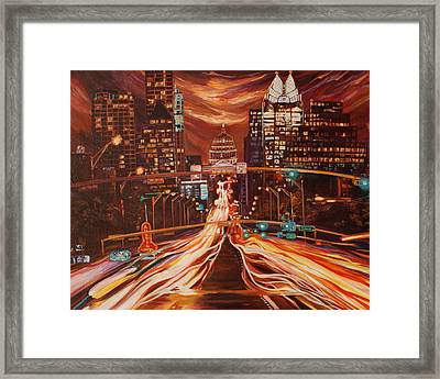 Austin Unplugged Framed Print by Suzanne King