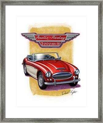 Austin3000-red-wht Framed Print by David Kyte