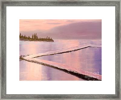 Austinmer Pool At Sunset Framed Print