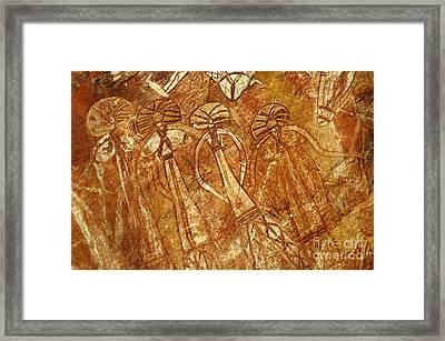 Australia Ancient Aboriginal Art 3 Framed Print