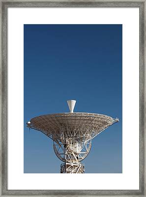 Australia, Canberra, Radio Telescopes Framed Print by Walter Bibikow