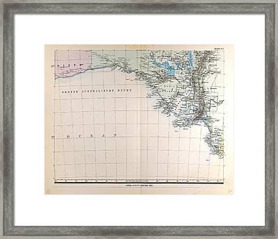Australia Gotha Justus Perthes 1872 Atlas Framed Print