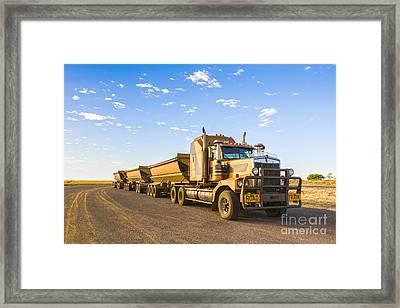 Australia Queensland Outback Road Train Framed Print