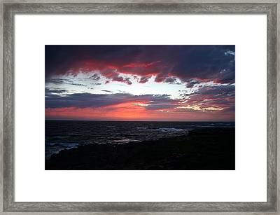 Framed Print featuring the photograph Australia Sunset by Henry Kowalski