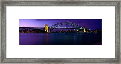 Australia, Sydney, Harbor Bridge Framed Print by Panoramic Images