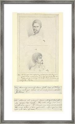 Australian Aborigines, 18th Century Framed Print