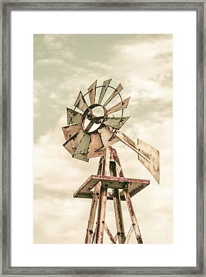 Australian Aermotor Windmill Framed Print by Jorgo Photography - Wall Art Gallery