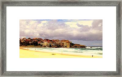 Australian Beach Scene Framed Print by John Potts