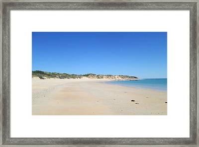 Framed Print featuring the photograph Australian Beach by Tony Mathews