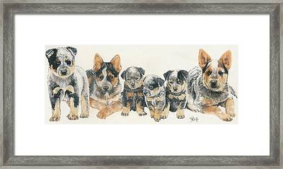 Australian Cattle Dog Puppies Framed Print by Barbara Keith