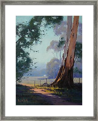 Australian Farm Painting Framed Print by Graham Gercken