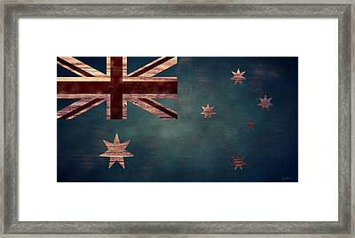 Australian Flag I Framed Print by April Moen