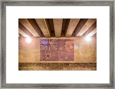 Australian Flag Framed Print by Semmick Photo