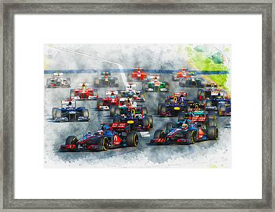 Australian Grand Prix F1 2012 Framed Print