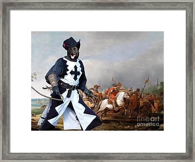 Australian Kelpie Canvas Print - A Cavalry Engagement During The Thirty Years War Framed Print by Sandra Sij