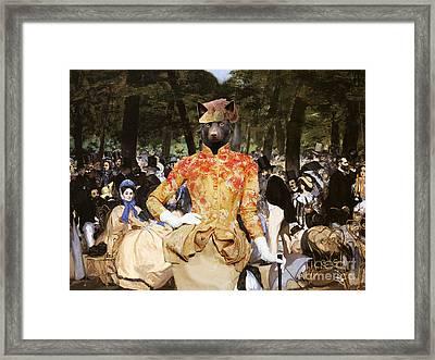 Australian Kelpie Canvas Print - Music With Tuileries Framed Print by Sandra Sij
