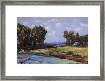 Australian Landscape By The Water  Framed Print