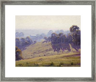 Australian Oil Painting Framed Print by Graham Gercken