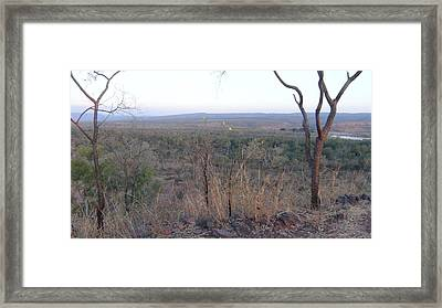 Framed Print featuring the photograph Australian Outback by Tony Mathews