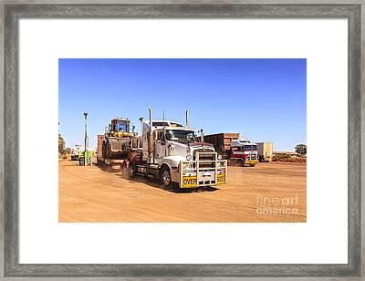 Australian Outback Truck Stop Framed Print