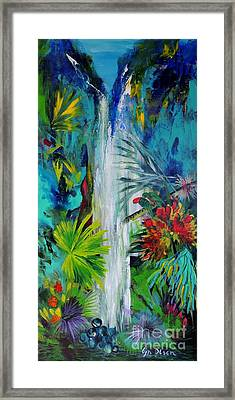 Framed Print featuring the painting Australian Rainforest by Lyn Olsen