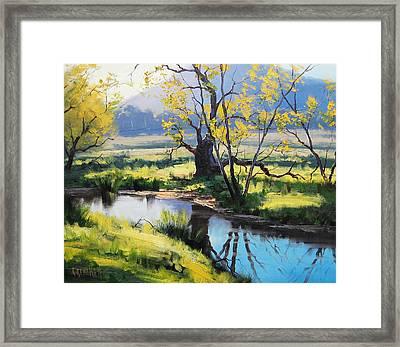 Australian River Painting Framed Print