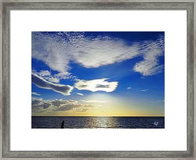 Australian Sommer Sky Framed Print by Ute Posegga-Rudel