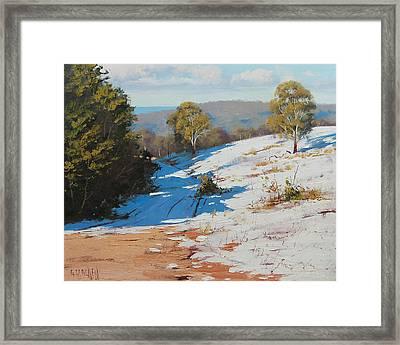 Australian Winter Snow Framed Print