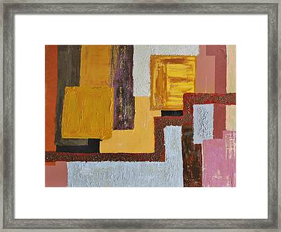 Australian Wood Stone And Clay Framed Print