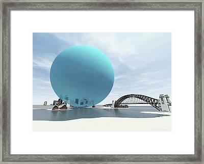 Australia's Daily Co2 Emission Framed Print by Adam Nieman