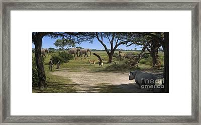 Australopithecus Afarensis Landscape Framed Print by Mauricio Anton