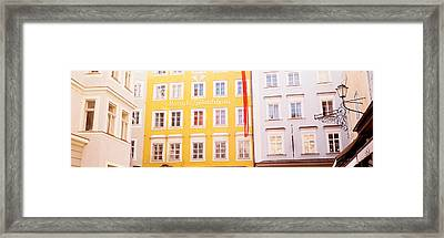 Austria, Salzburg, Mozarts Birthplace Framed Print by Panoramic Images