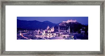 Austria, Salzburg, Panoramic View Framed Print