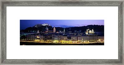 Austria, Salzburg, Salzach River Framed Print