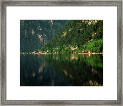 Austria, Salzkammergut, Hallstatt, View Framed Print
