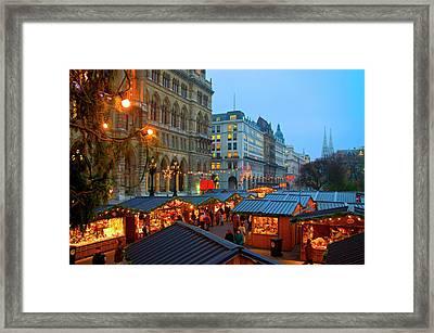 Austria, Vienna, Christmas Market Framed Print by Miva Stock