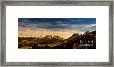 Austrian Autumn Scenic Panorama Framed Print