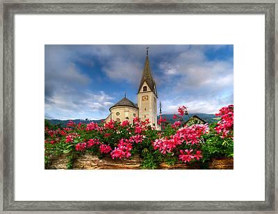 Austrian Church Framed Print by Debra and Dave Vanderlaan